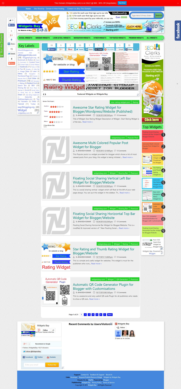 Sell my Blog WidgetsBay. com with Domain
