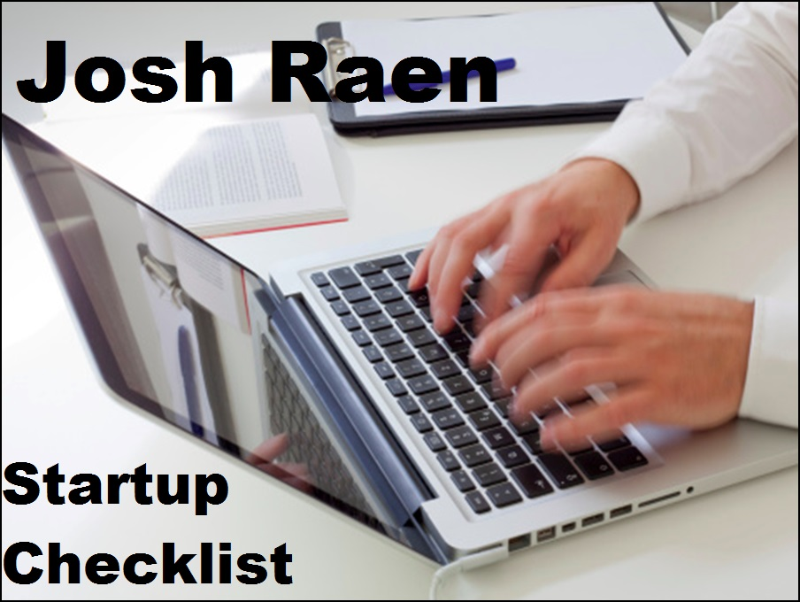 create a startup checklist
