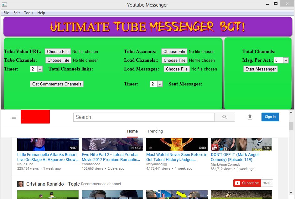 Best Automated YouTube Message sender Software 2017
