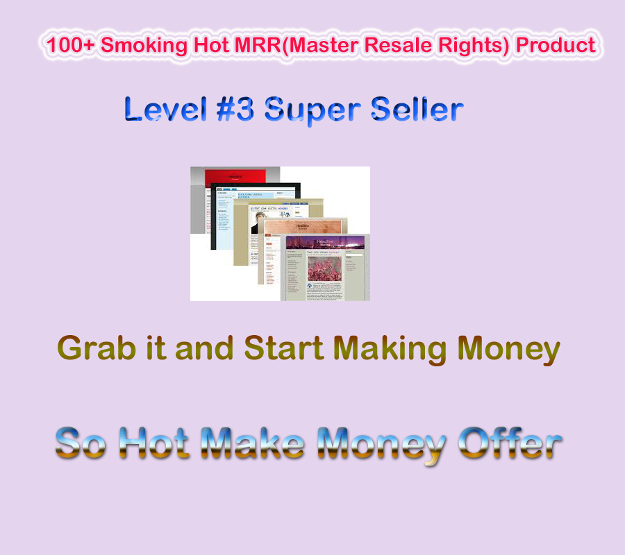 100+ Smoking Hot MRR(Master Resale Rights) Product to Make Money