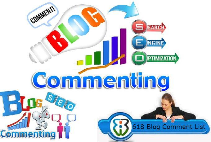 618 High PR Blog Comments List PR 7 - 8,  PR 6 - 80, PR 5 - 530