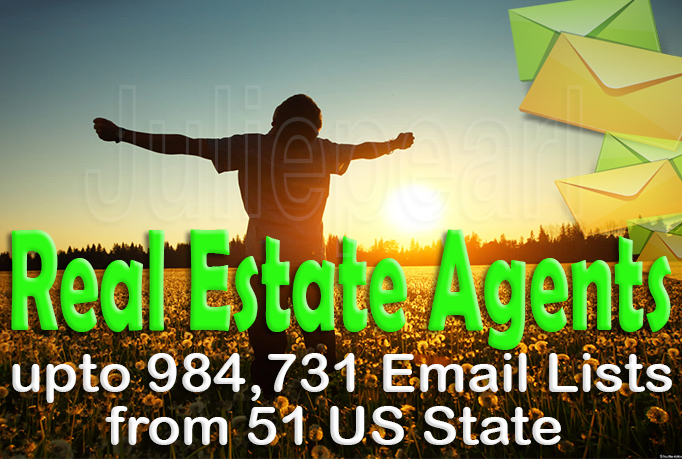 Give you 984,731 Real Estate Agent Email Lists - PROMO