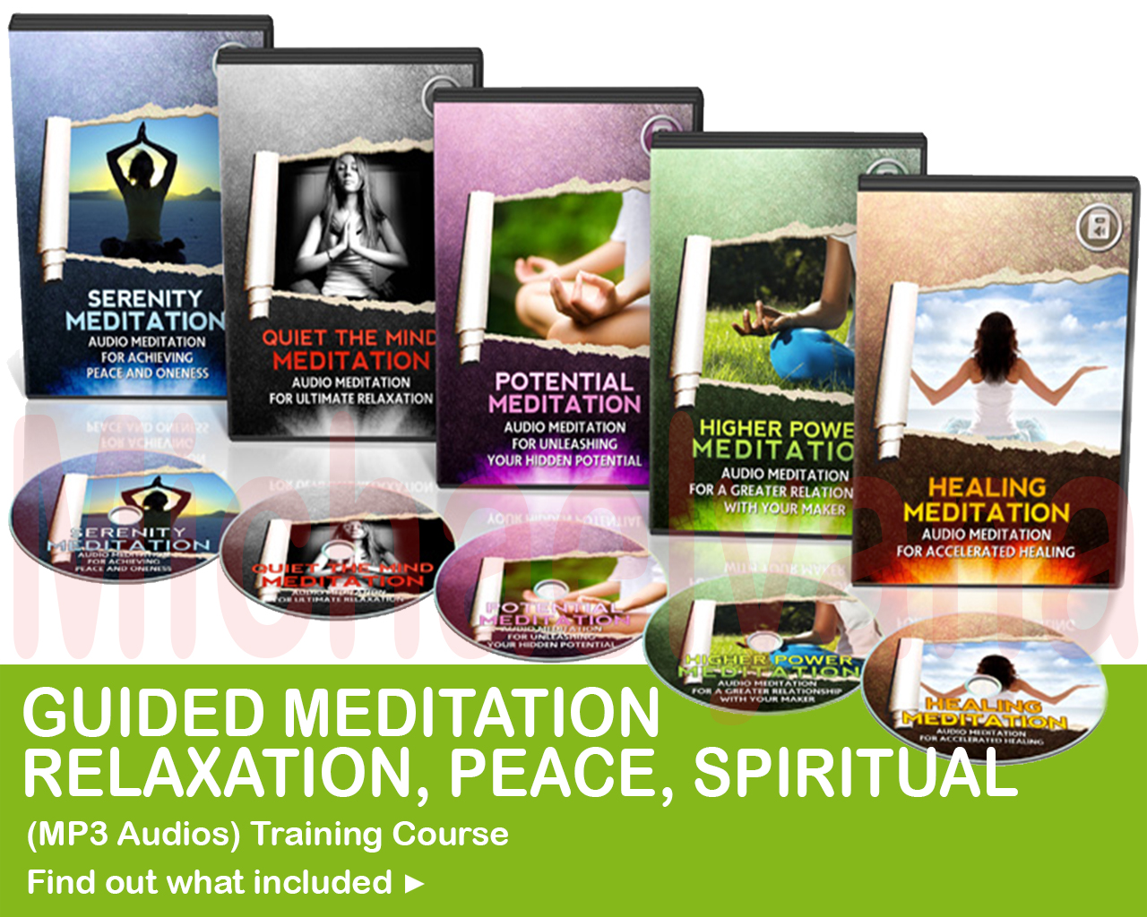 GUIDED MEDITATION - RELAXATION,  PEACE,  SPIRITUAL - MP3 AUDIOS TRAINING COURSE