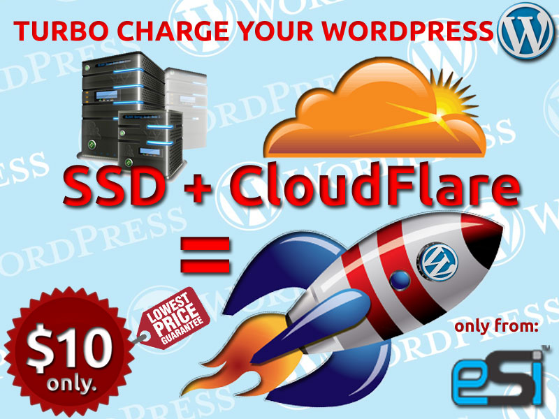 Super Charge Your WORDPRESS Website or Blog with HighSpeed SSD Hosting & CloudFlare Network