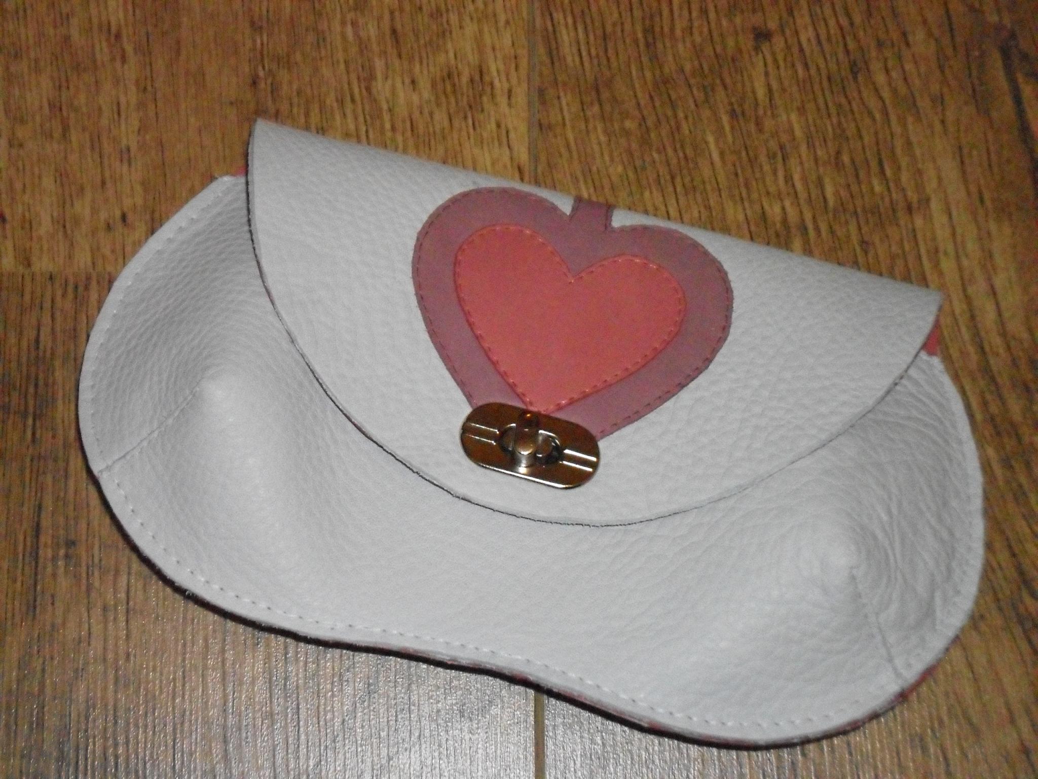 Unique leather bag with an unique design