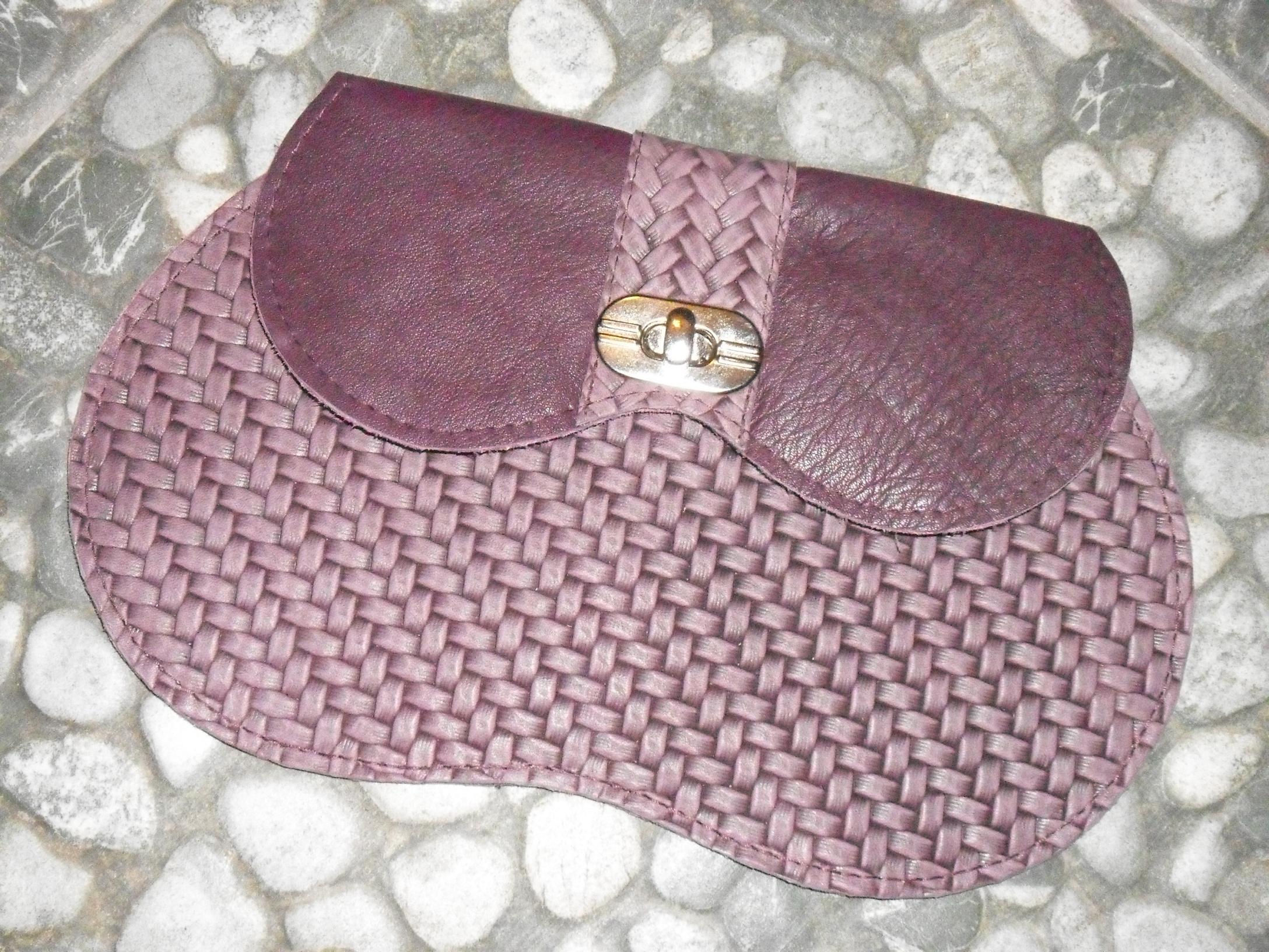 An unique genuine leather bag 'Purple'