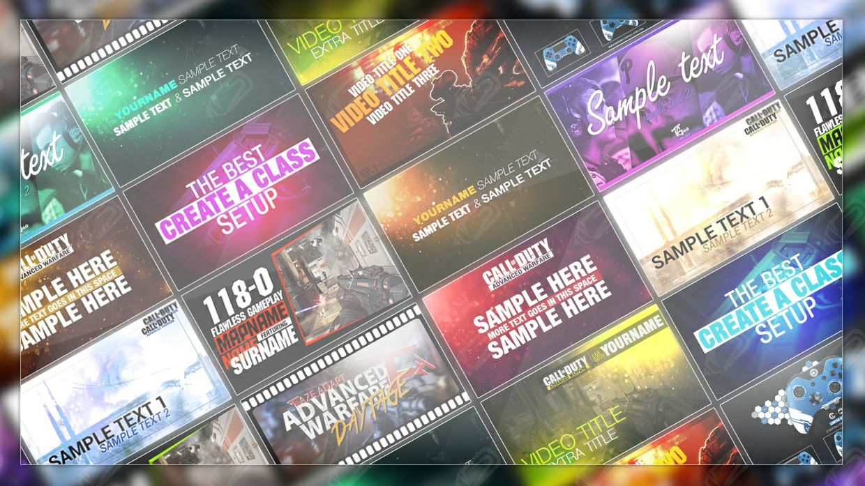 will x10 YouTube Thumbnail Template PSD for $5 | Social Media ...