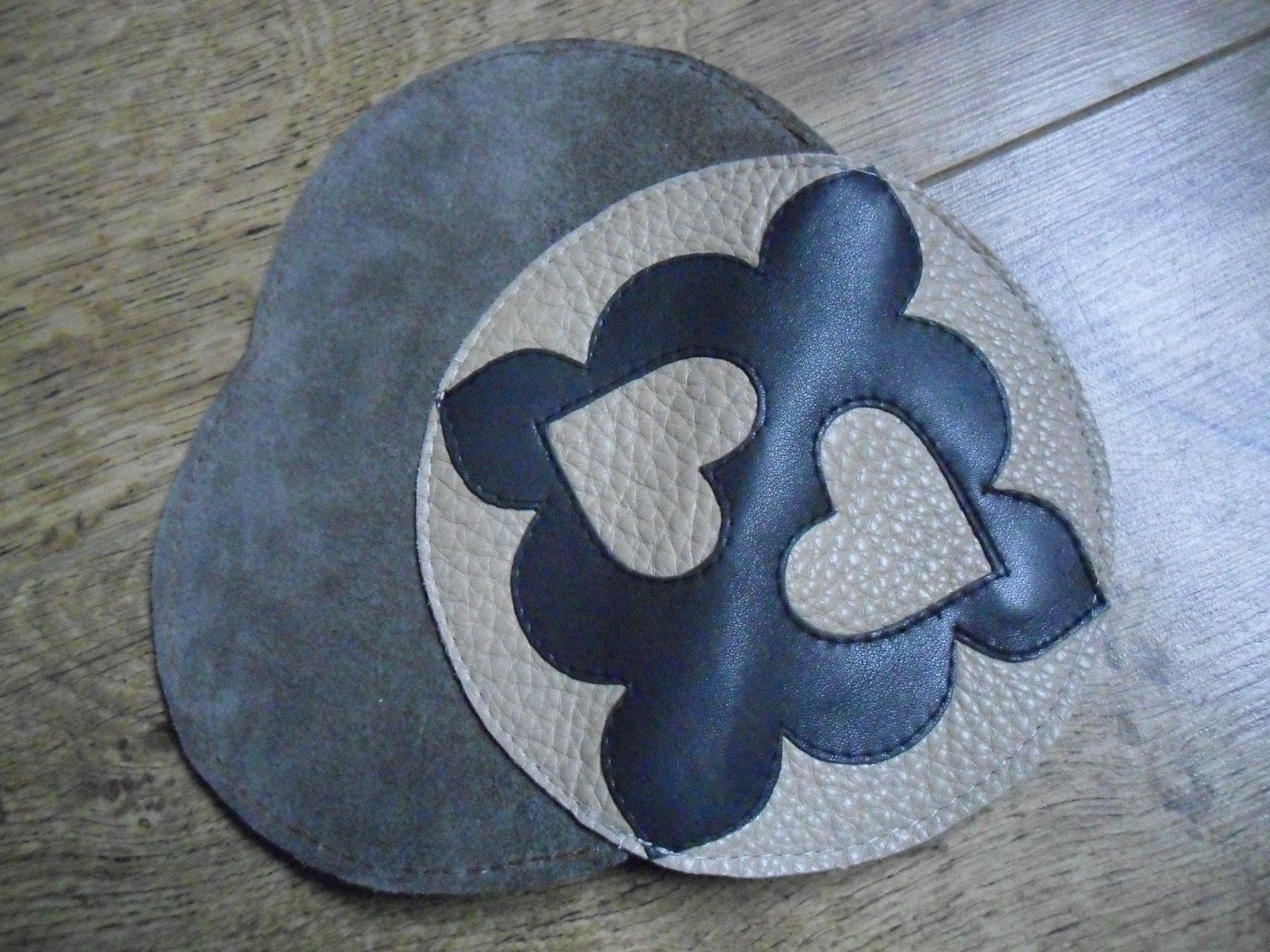 A unique genuine leather bag 'Cappuccino'