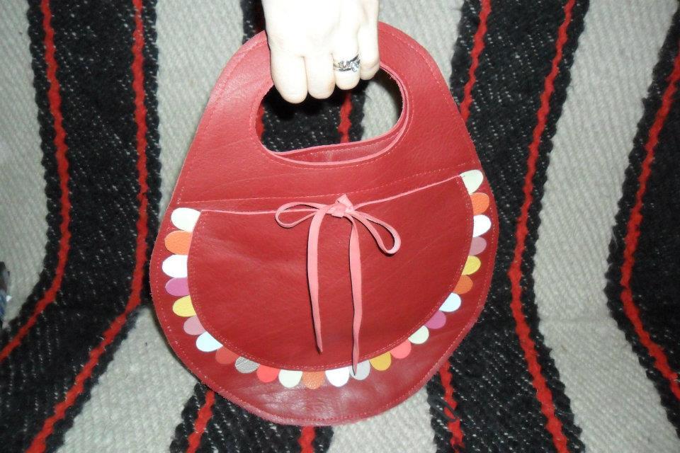 Unique leather bag 'Spring'