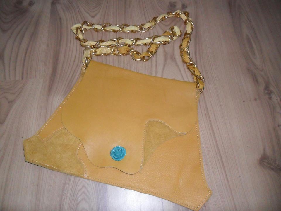 Unique genuine leather bag