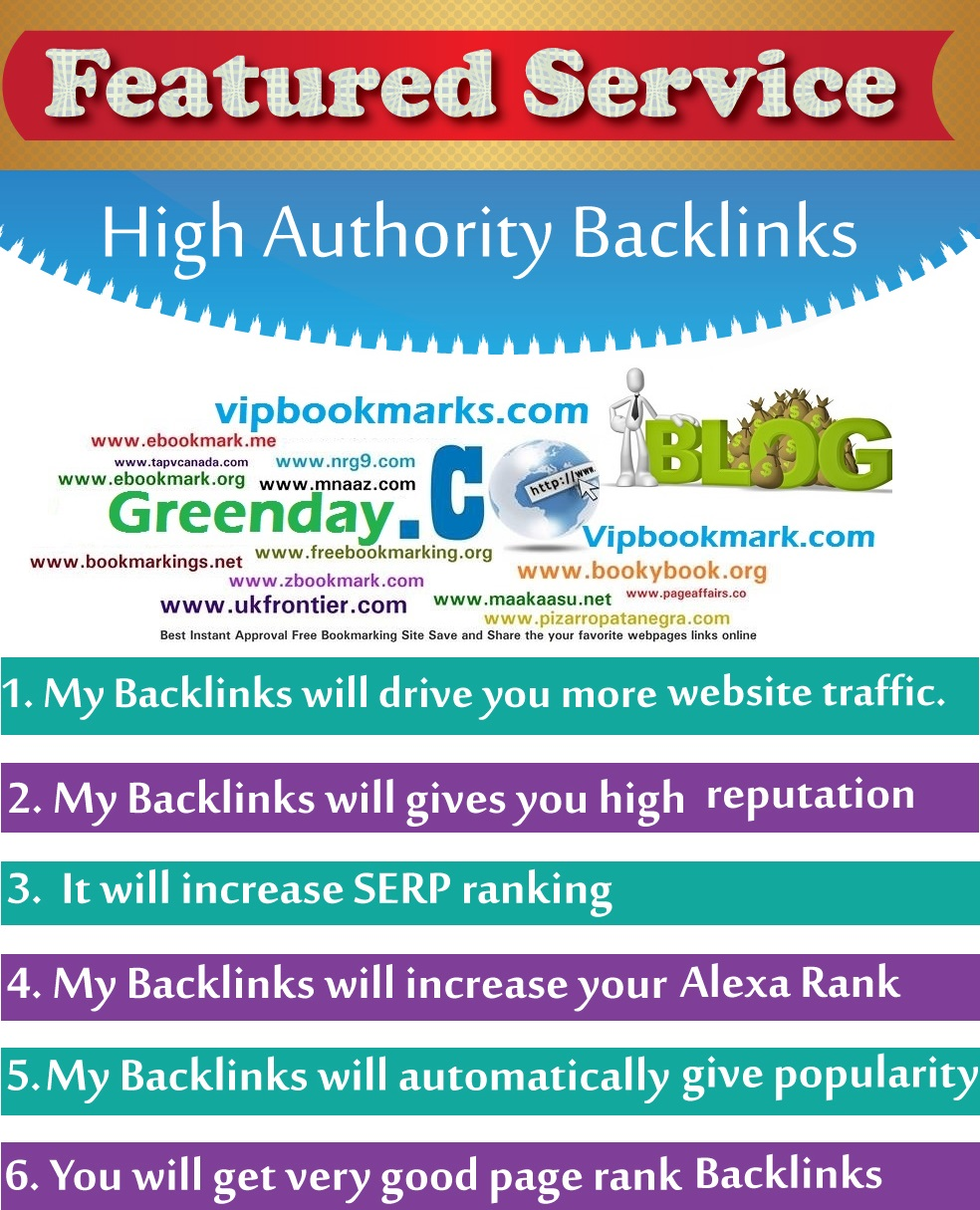 40+ Bookmark and Dofollow Backlink with Google Index ...