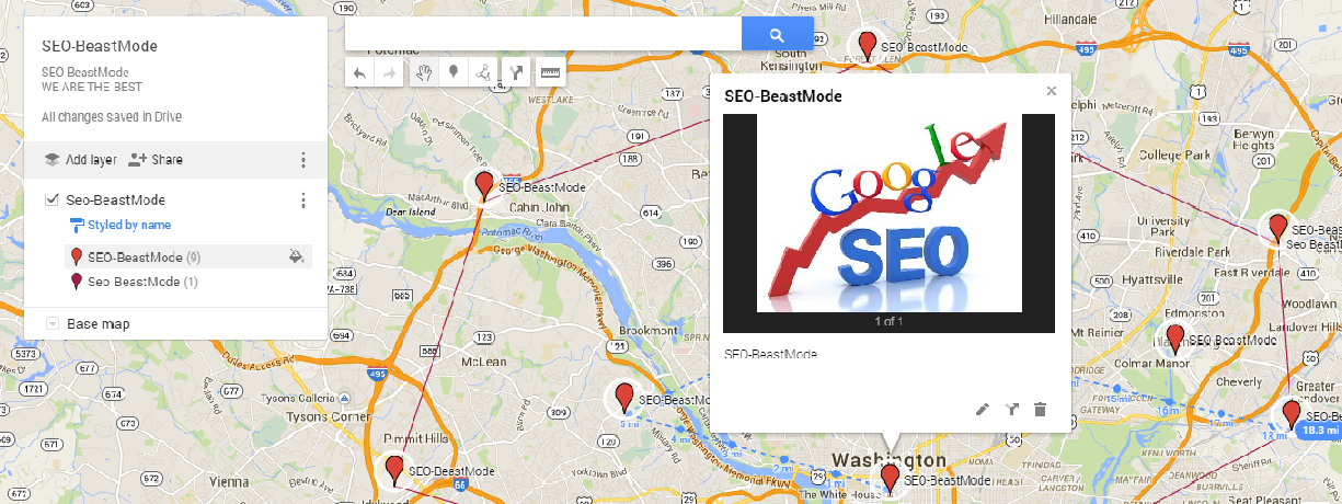 SEO Local Link Wheel Map