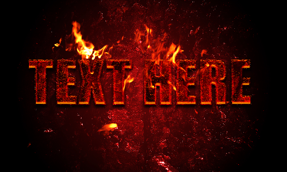 Creating Hot Lava text effect style