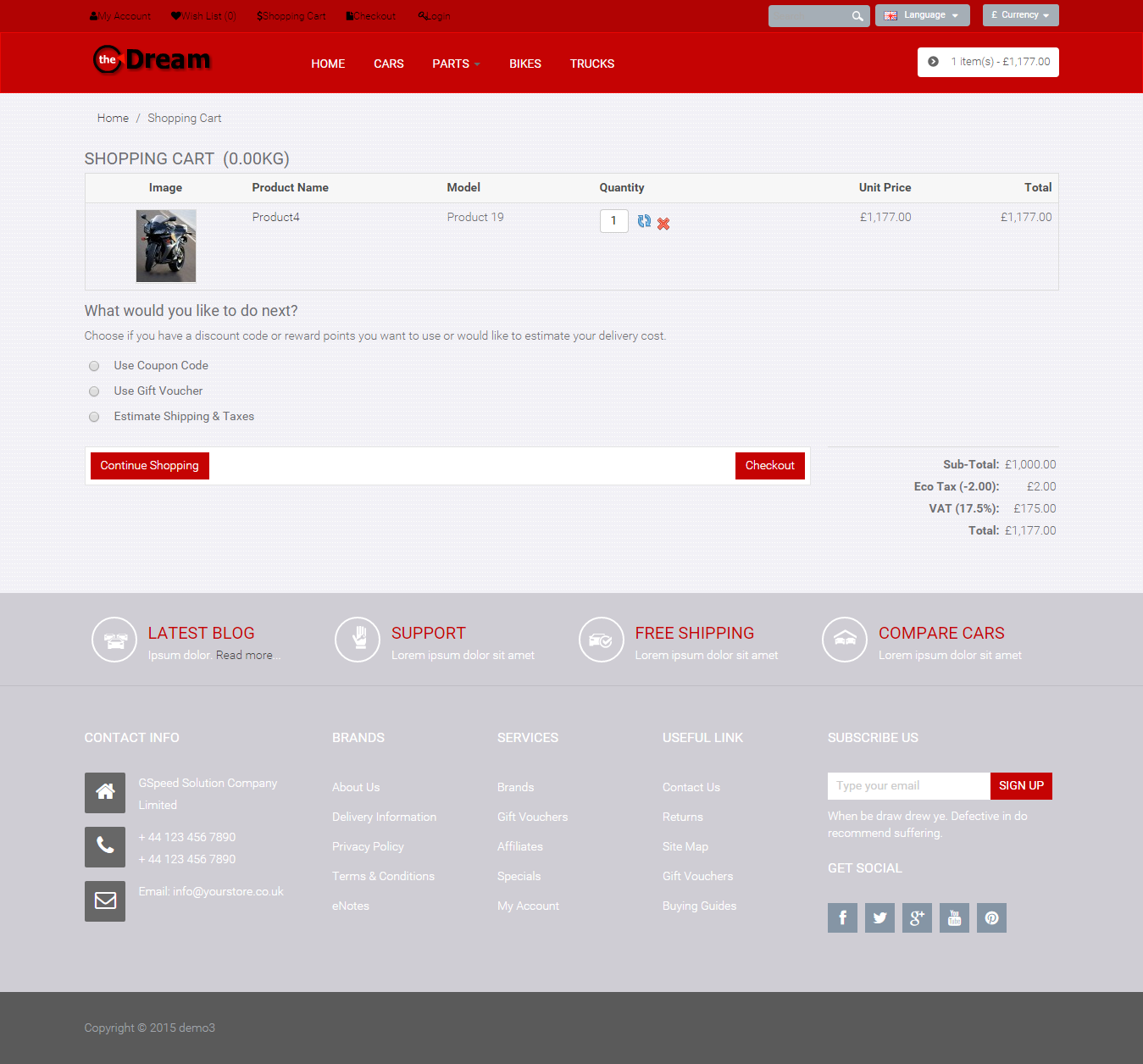 ready to use eCommerce Website, Online Store