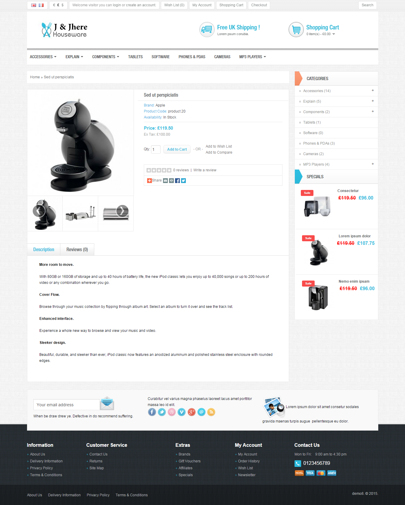 eCommerce Website Shopping Cart Site