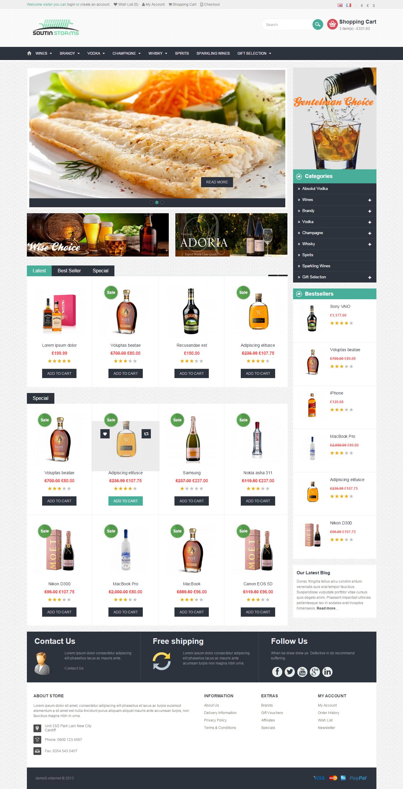 Website Shopping Cart Site / eCommerce Shop