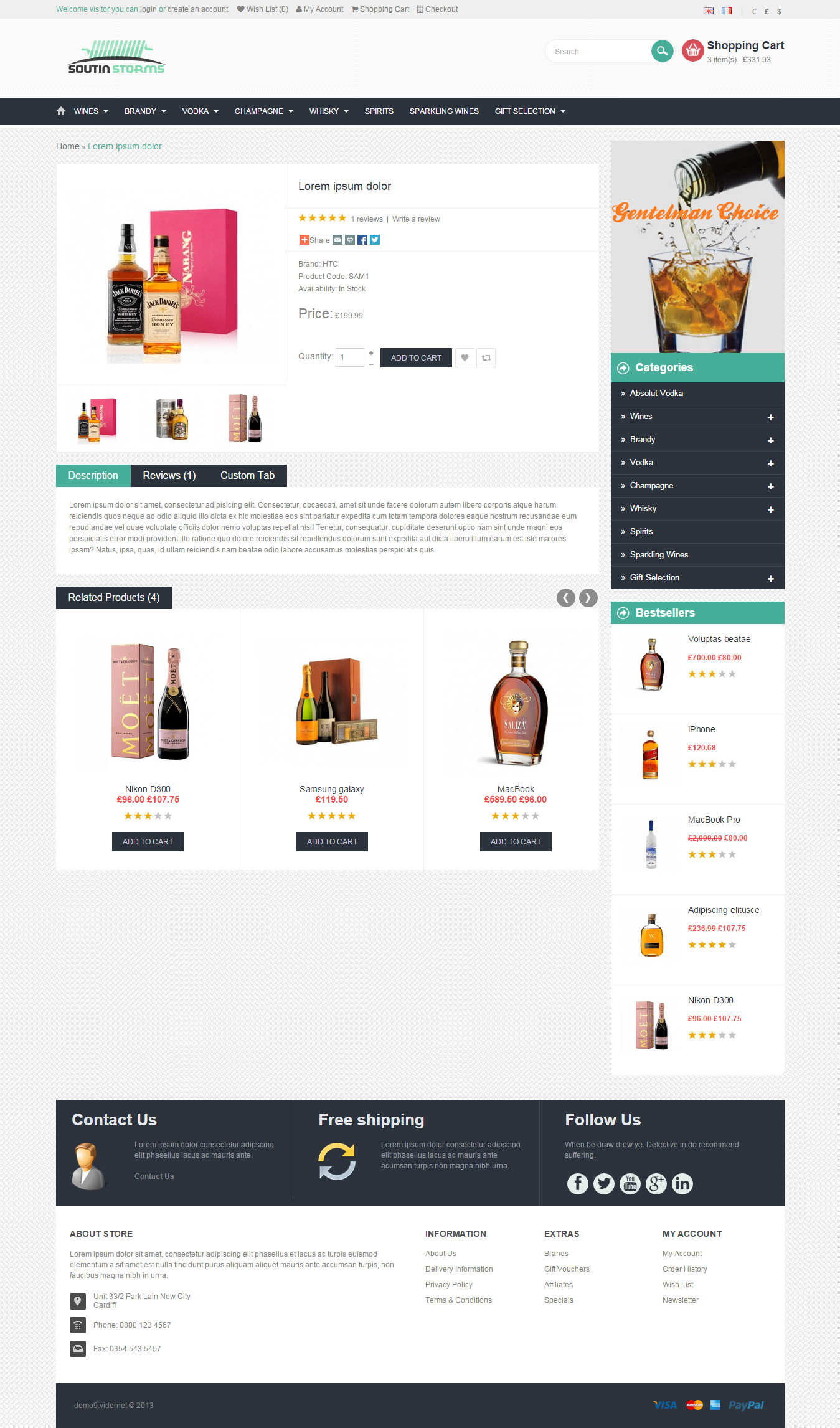 Website Shopping Cart Site / eCommerce Shop