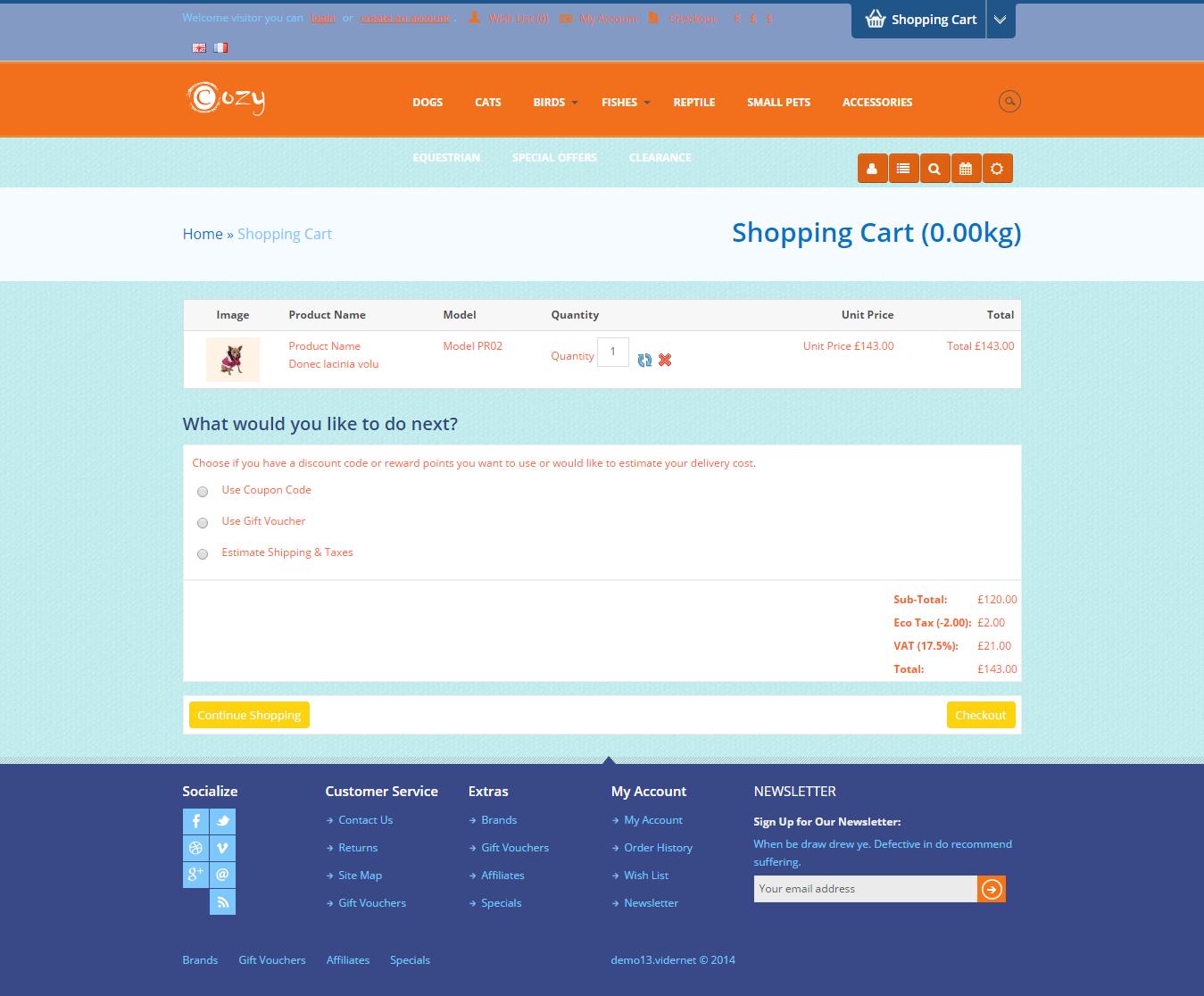 Responsive Pet Shop Website