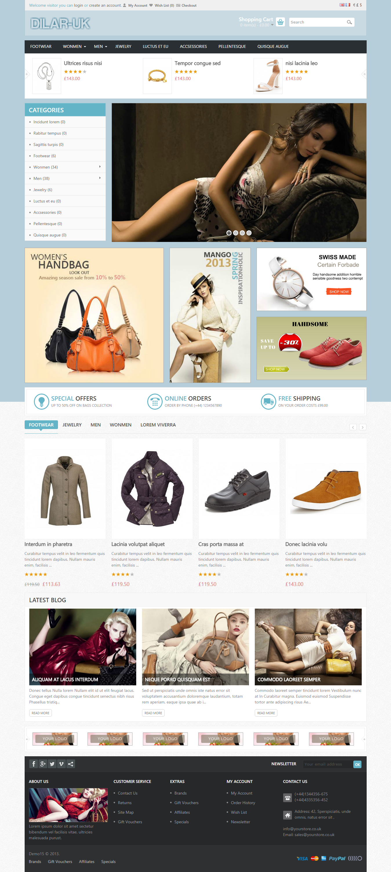 Online Shop Store Website Shopping Cart Business Ecommerce