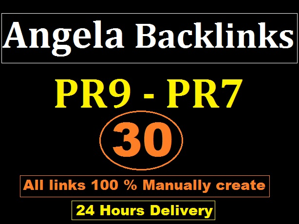 I will give you 30 High PR9 - PR7 Angela Backlinks