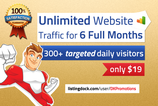 Unlimited TARGETED real human Website TRAFFIC for 6 months