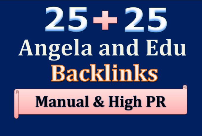 I will submit Angela and edu backlinks from different sites