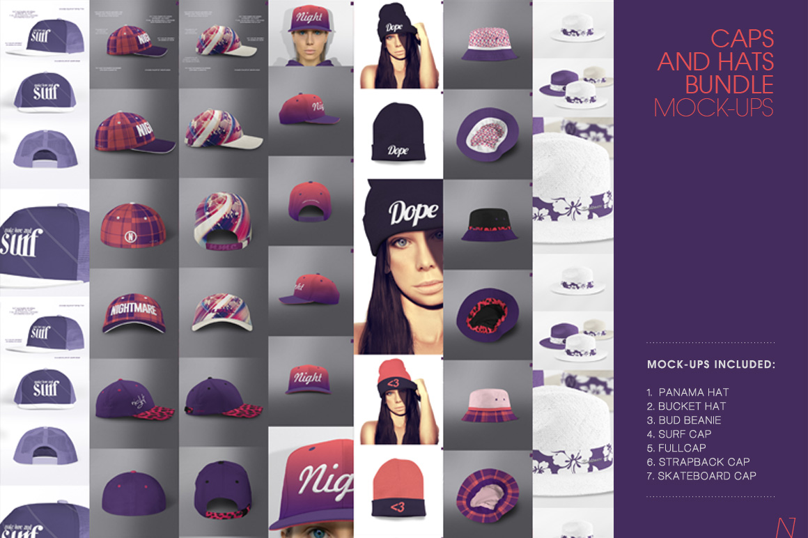 Apparel And Hat Mockups for Designers