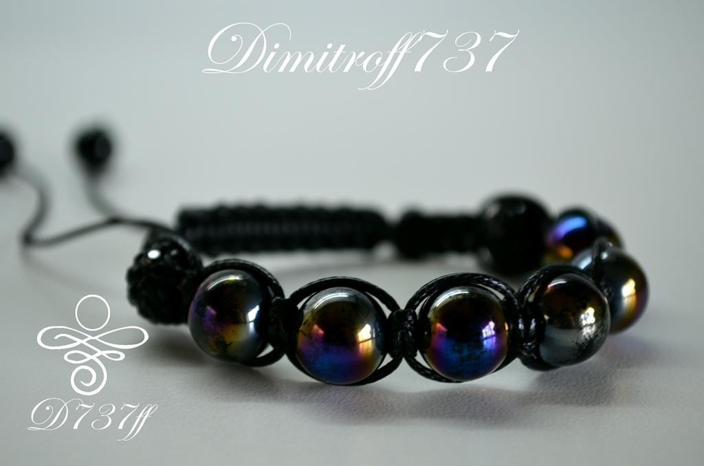 Hematite Shamballa bracelet