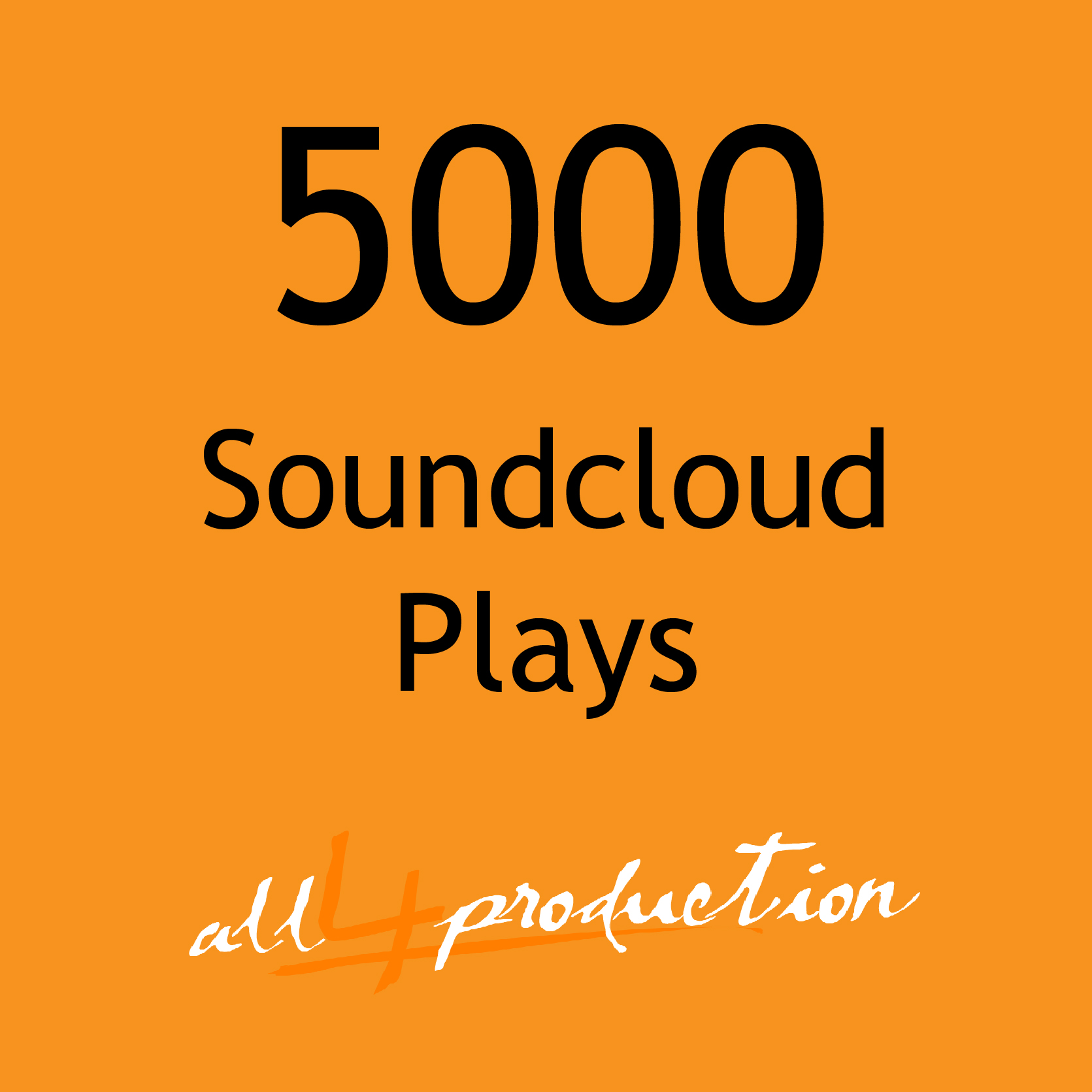 5000 Soundcloud Play for your Tracks in just 24 Hours! Max Split on 4 Tracks MEGA EXPRESS SERVICE