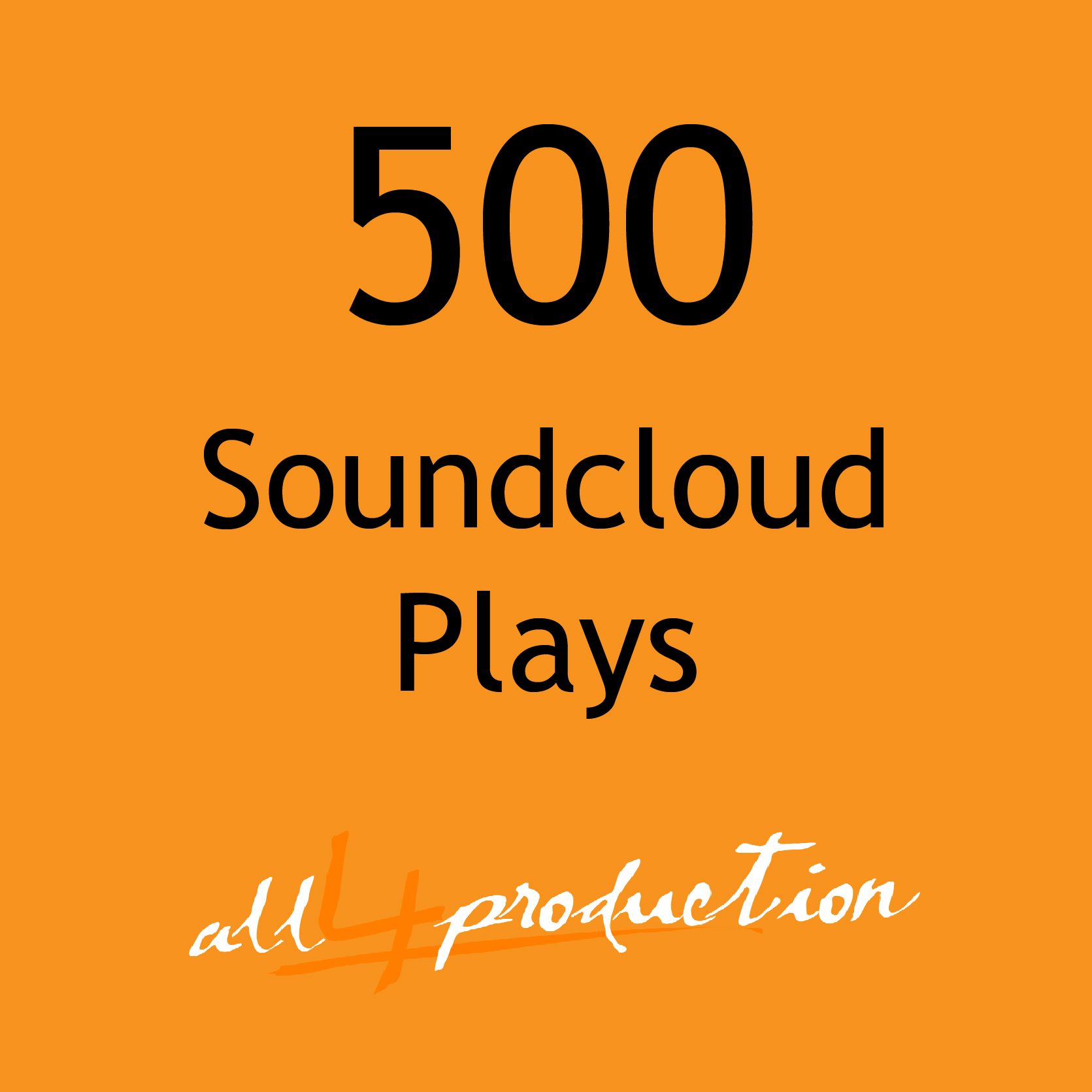 500 Soundcloud Plays Max Split on 4 Tracks