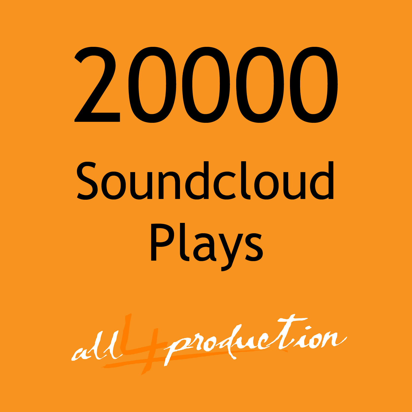 AMAZING!! 20.000 Soundcloud Plays in just 24 Hours Max Split on 4 Tracks MEGA EXPRESS SERVICE