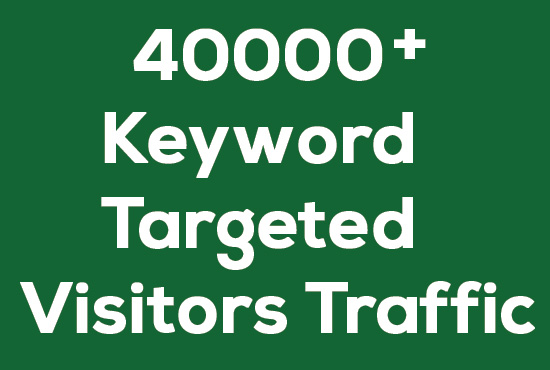 Over 40000 KEYWORD targeted Website visitors TRAFFIC