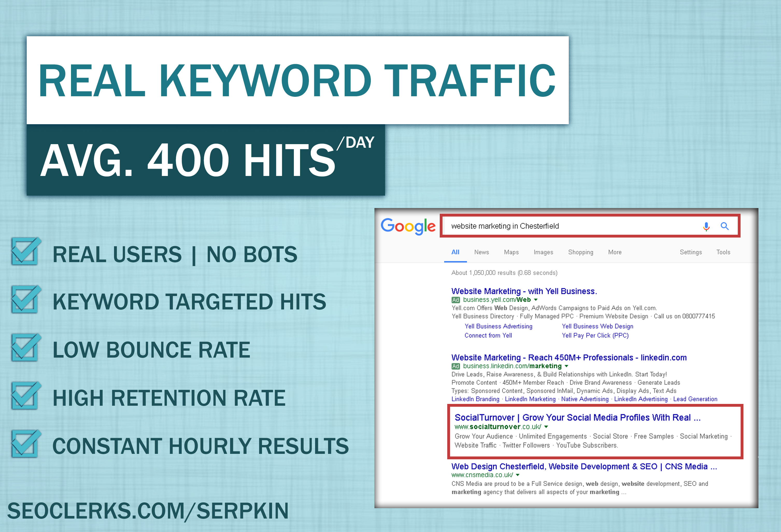 Keyword Targeted Traffic for 7 days