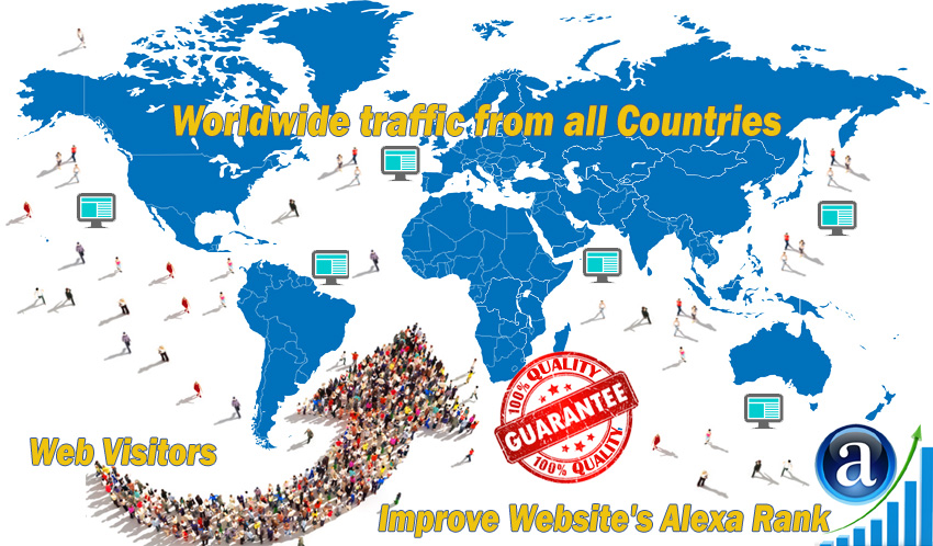 send you real worldwide website traffic visitors from all countries