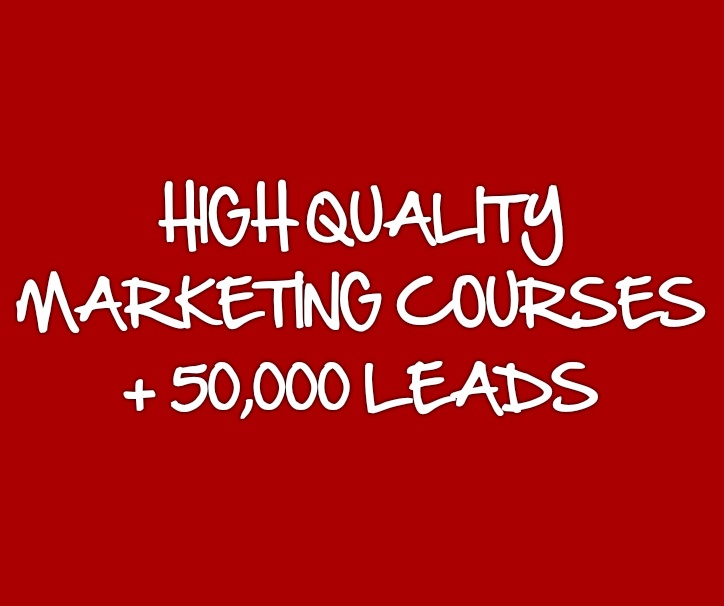 All My Marketing Courses and 50K Leads