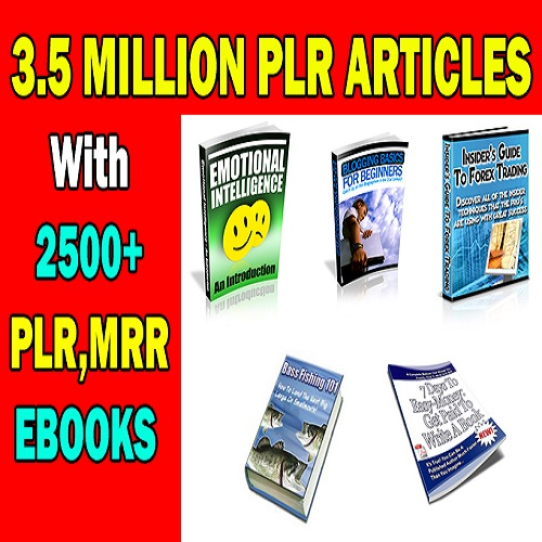 Over 3 Million Plr Articles With 2500 Mrr Ebooks