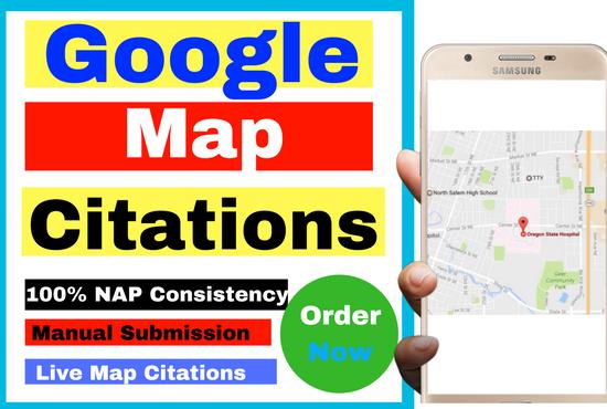 Do 100 Live Google Map Citations Local Business Listing