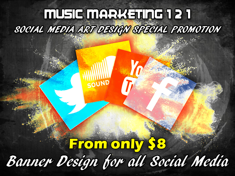 Banner Design For Up To 4 Social Media Accounts