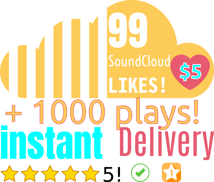 99 SoundCloud Likes & 1000 plays