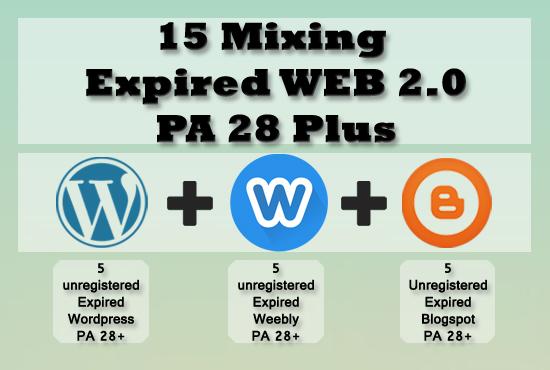 15 Expired Wordpress Weebly Blogspot PA 28 Plus