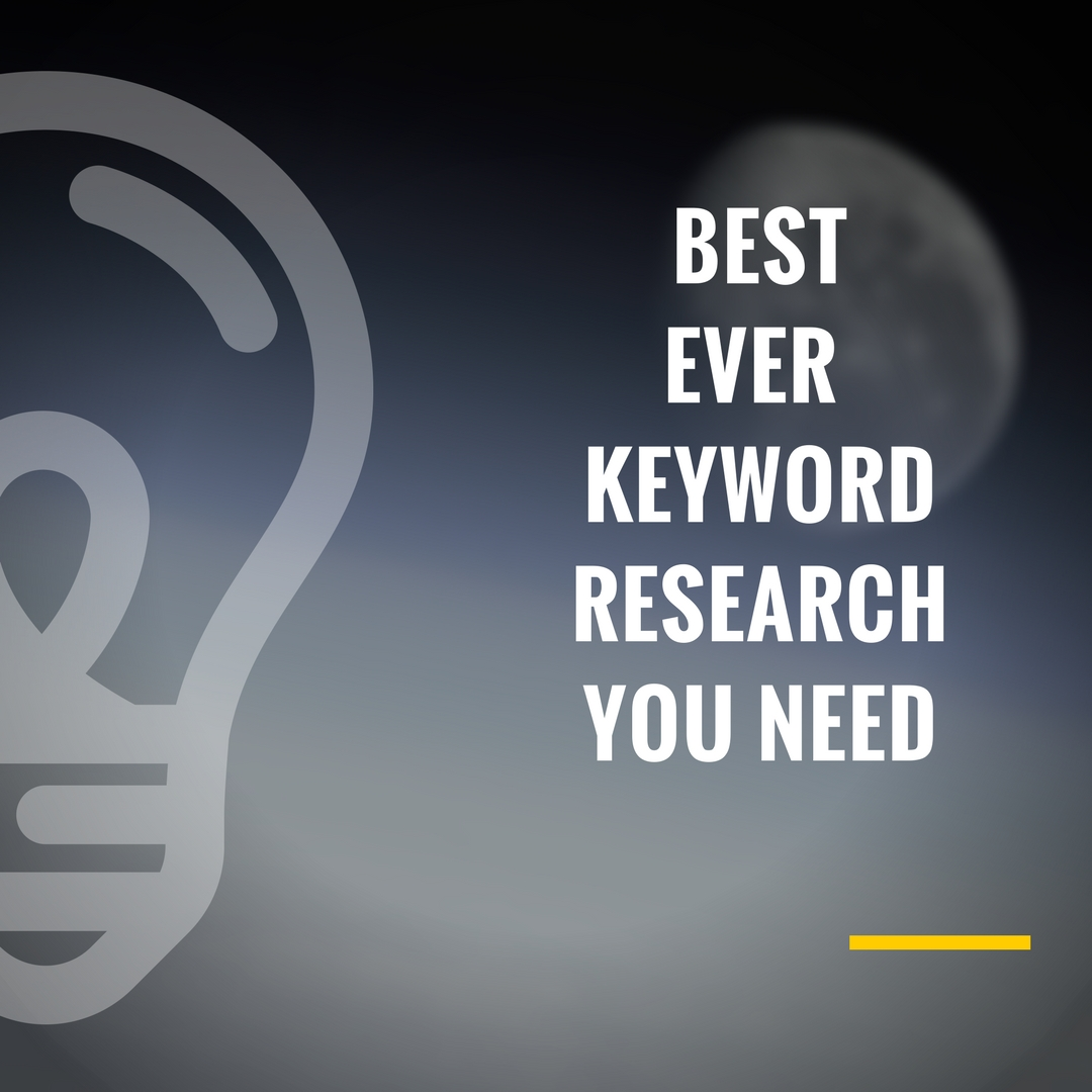 BEST EVER KEYWORD RESEARCH with LOWEST COMPETITION
