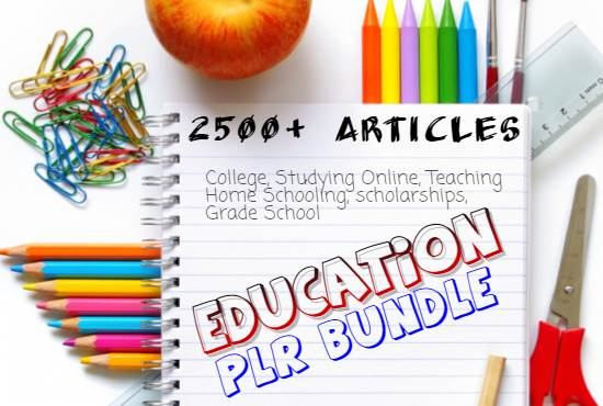 2500 Education PLR Articles bundle