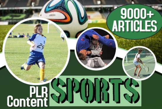 Sports - 9000 PLR Articles bundle