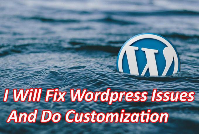 Fix Wordpress Issues And Do Customization