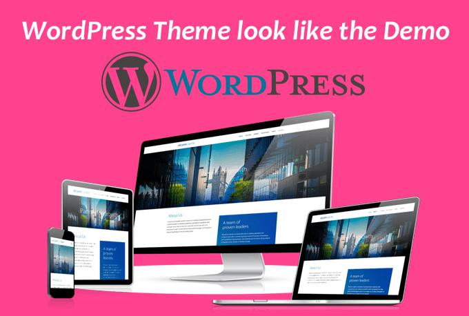 Make Your Wordpress Theme As The Demo