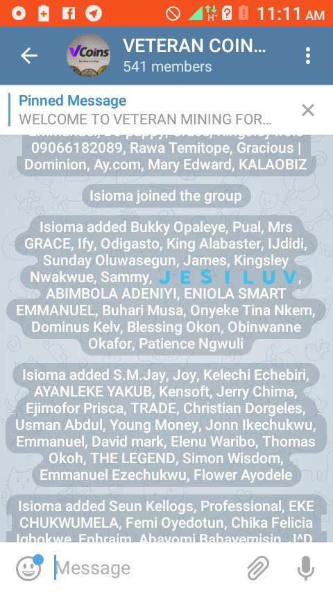 Telegram real group/Channel members