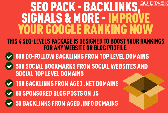 SEOPack - Backlinks, WEB 2.0s, Social Signals and Bookmarks with Video Creation