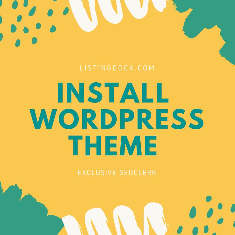 Install Wordpress Theme And Setup Same Like Demo