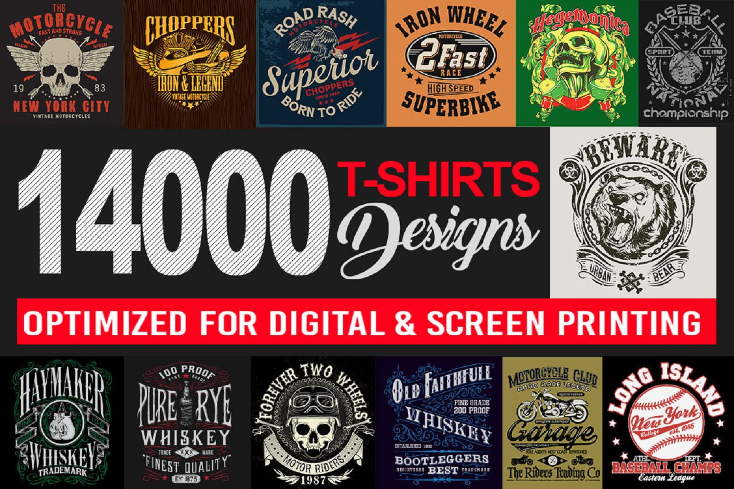 Send You 14000 Print Ready Tshirt Designs