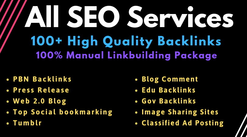 Manual SEO Link Building Services Package